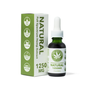 1250 mg of Liquid hemp extract