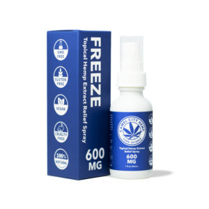 600 MG of Freeze Hemp Spray